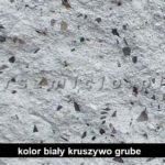 kolor łupany biały gruby